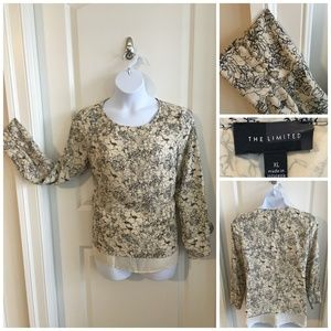 Limited Ivory and Black Floral Blouse